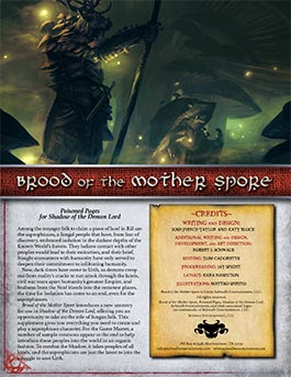 Brood of the Mother Spore | Poisoned Pages for Shadow of the Demon Lord RPG