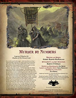 Murder by Numbers | Legacy of Shadow for Shadow of the Demon Lord