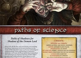 Paths of Science | Paths of Shadow for Shadow of the Demon Lord RPG