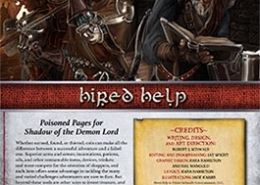 Hired Help | Poisoned Pages for Shadow of the Demon Lord RPG