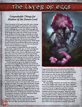 Layer of Eggs: Unspeakable Things for Shadow of the Demon Lord RPG